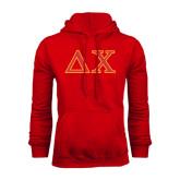 Red Fleece Hood-Greek Letters