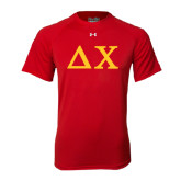 Under Armour Red Tech Tee-Solid Greek Letters