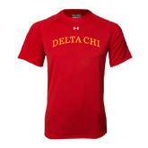 Under Armour Red Tech Tee-Arched Delta Chi