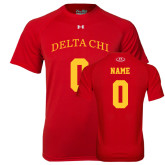 Under Armour Red Tech Tee-Personalized Name & Number