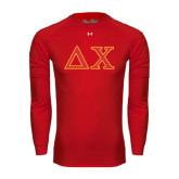 Under Armour Red Long Sleeve Tech Tee-Greek Letters