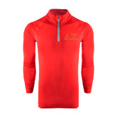 Under Armour Red Tech 1/4 Zip Performance Shirt-Greek Letters