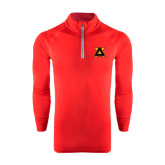 Under Armour Red Tech 1/4 Zip Performance Shirt-Badge