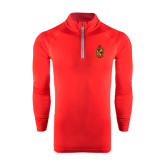 Under Armour Red Tech 1/4 Zip Performance Shirt-Contemporary Coat Of Arms