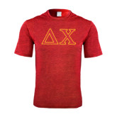 Performance Red Heather Contender Tee-Greek Letters