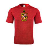 Performance Red Heather Contender Tee-Contemporary Coat Of Arms