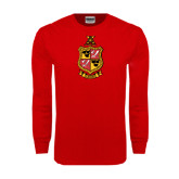 Red Long Sleeve T Shirt-Contemporary Coat Of Arms