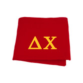 Red Sweatshirt Blanket-Solid Greek Letters