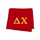 Red Sweatshirt Blanket-Solid Greek Letters