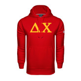 Under Armour Red Performance Sweats Team Hoodie-Solid Greek Letters