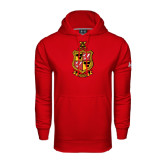 Under Armour Red Performance Sweats Team Hoodie-Contemporary Coat Of Arms