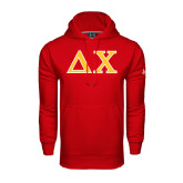 Under Armour Red Performance Sweats Team Hoodie-Greek Letters