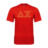 Syntrel Performance Red Tee-Greek Letters