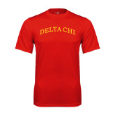 Performance Red Tee-Arched Delta Chi