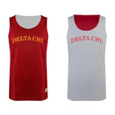 Red/White Reversible Tank-Arched Delta Chi