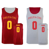 Red/White Reversible Tank-Arched Delta Chi Personalized