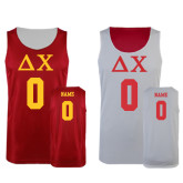 Red/White Reversible Tank-Greek Letters Personalized
