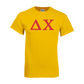 Gold T Shirt-Solid Greek Letters