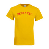 Gold T Shirt-Arched Delta Chi