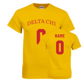 Gold T Shirt-Personalized Name & Number
