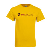 Gold T Shirt-Delta Chi Fraternity W/ Shield Flat