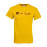 Gold T Shirt-Delta Chi Fraternity W/ Shield Flat