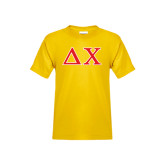 Youth Gold T Shirt-Greek Letters