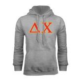 Grey Fleece Hood-Greek Letters