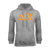 Grey Fleece Hoodie-Greek Letters