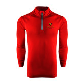 Under Armour Cardinal Tech 1/4 Zip Performance Shirt-Delta Chi Fraternity W/ Shield Stacked