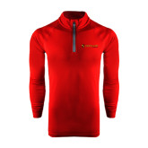 Under Armour Cardinal Tech 1/4 Zip Performance Shirt-Delta Chi Fraternity W/ Shield Flat