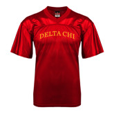 Replica Red Adult Football Jersey-Arched Delta Chi