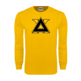 Gold Long Sleeve T Shirt-Badge