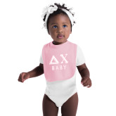 Light Pink Baby Bib-Delta Chi Baby