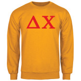 Gold Fleece Crew-Solid Greek Letters