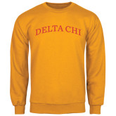 Gold Fleece Crew-Arched Delta Chi