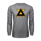 Grey Long Sleeve T Shirt-Badge