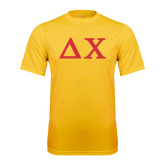 Performance Gold Tee-Solid Greek Letters