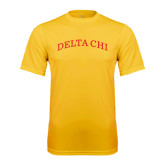 Performance Gold Tee-Arched Delta Chi