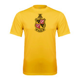 Syntrel Performance Gold Tee-Contemporary Coat Of Arms