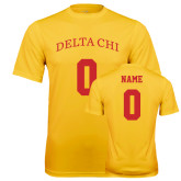 Syntrel Performance Gold Tee-Personalized Name & Number