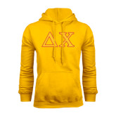 Gold Fleece Hoodie-Greek Letters
