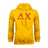 Gold Fleece Hoodie-Solid Greek Letters