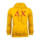 Gold Fleece Hood-Solid Greek Letters