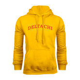 Gold Fleece Hoodie-Arched Delta Chi