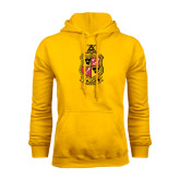Gold Fleece Hoodie-Contemporary Coat Of Arms