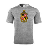 Performance Grey Heather Contender Tee-Contemporary Coat Of Arms