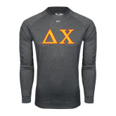 Under Armour Carbon Heather Long Sleeve Tech Tee-Greek Letters