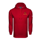 Under Armour Cardinal Performance Sweats Team Hoodie-Delta Chi Fraternity W/ Shield Stacked