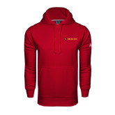 Under Armour Cardinal Performance Sweats Team Hoodie-Delta Chi Fraternity W/ Shield Flat